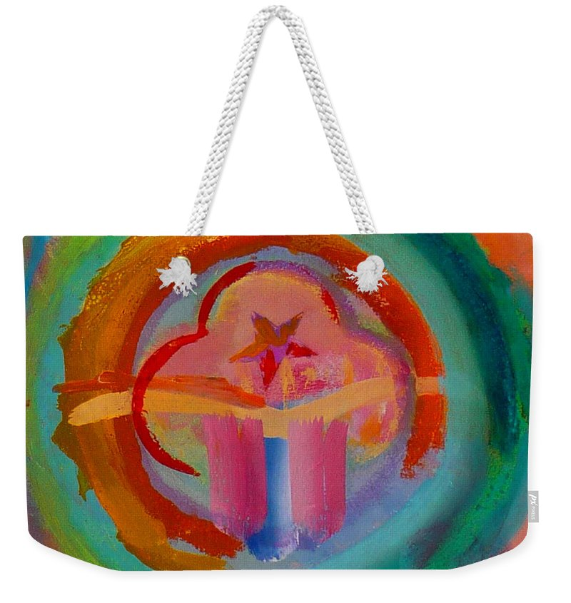 Logo Weekender Tote Bag featuring the painting Colour States by Charles Stuart