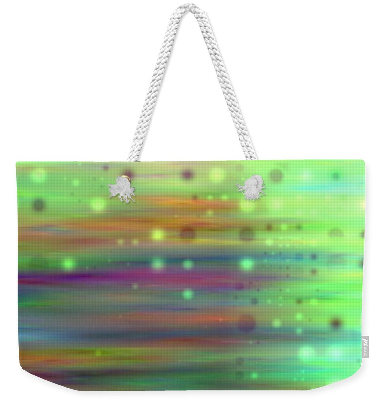 Art Digital Art Weekender Tote Bag featuring the digital art Colour13mlv - Impressions by Alex Porter