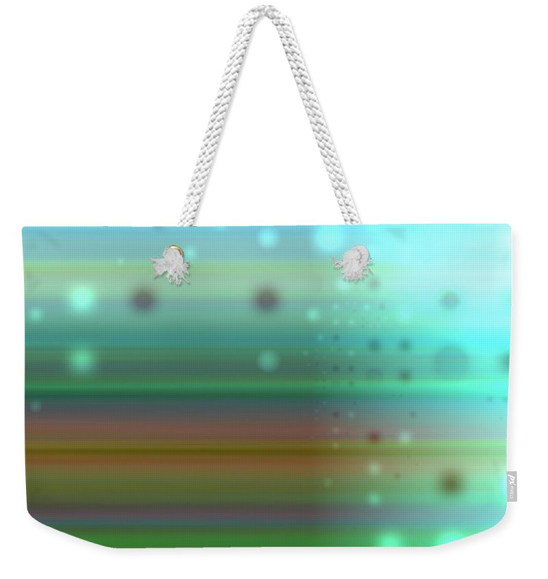 Art Digital Art Weekender Tote Bag featuring the digital art Colour17mlv - Impressions by Alex Porter