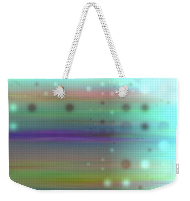 Art Digital Art Weekender Tote Bag featuring the digital art Colour18mlv - Impressions by Alex Porter