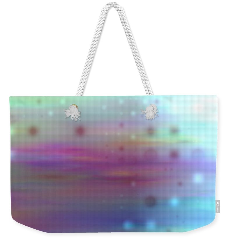 Art Digital Art Weekender Tote Bag featuring the digital art Colour20mlv - Impressions by Alex Porter
