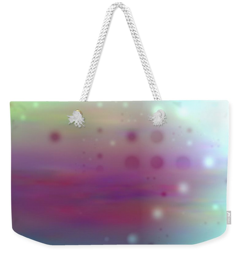 Art Digital Art Weekender Tote Bag featuring the digital art Colour22mlv - Impressions by Alex Porter