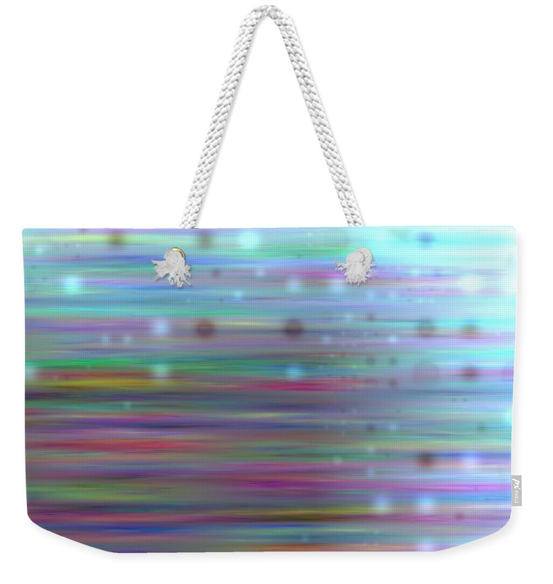 Art Digital Art Weekender Tote Bag featuring the digital art Colour23mlv - Impressions by Alex Porter