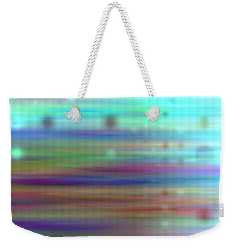 Art Digital Art Weekender Tote Bag featuring the digital art Colour24mlv - Impressions by Alex Porter