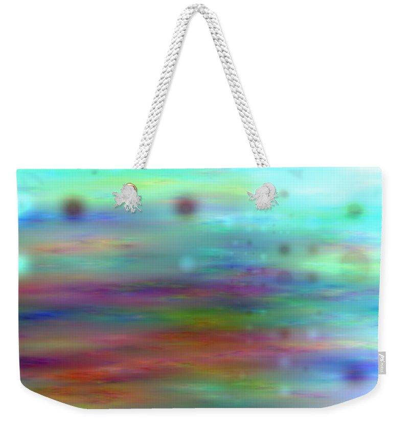 Art Digital Art Weekender Tote Bag featuring the digital art Colour25mlv - Impressions by Alex Porter