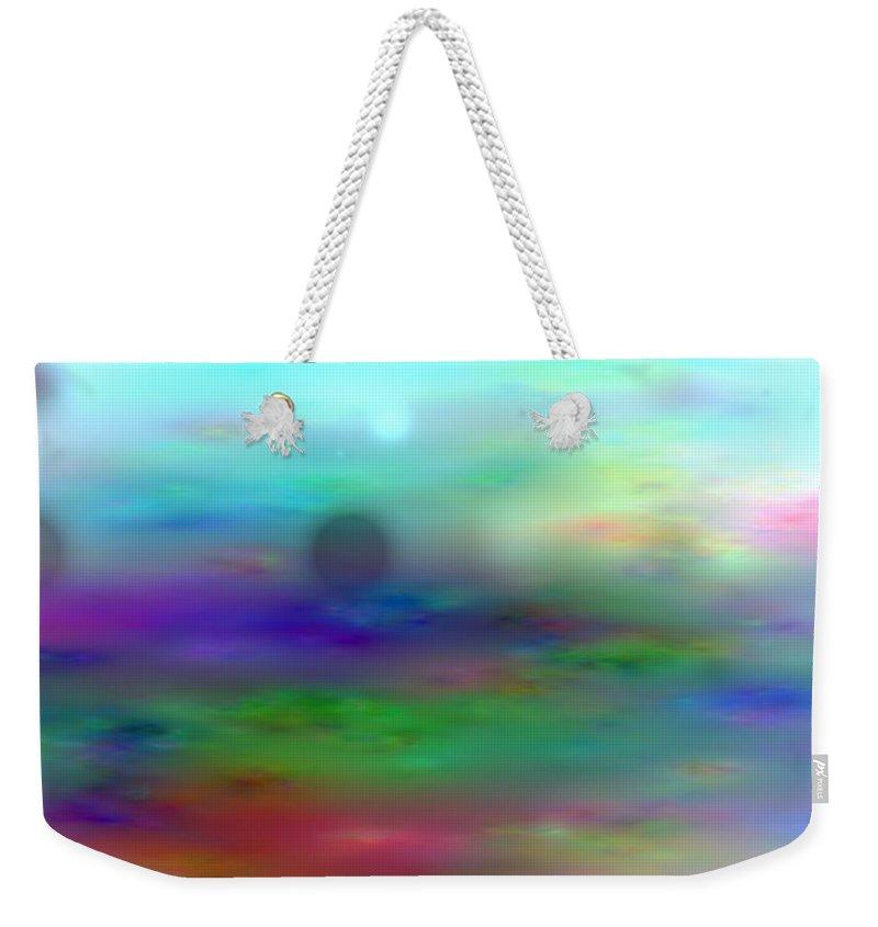 Art Digital Art Weekender Tote Bag featuring the digital art Colour28mlv - Impressions by Alex Porter