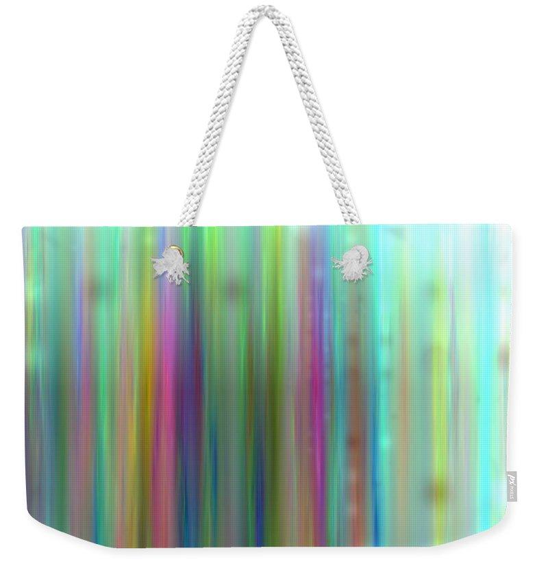 Art Digital Art Weekender Tote Bag featuring the digital art Colour2mlv - Impressions by Alex Porter