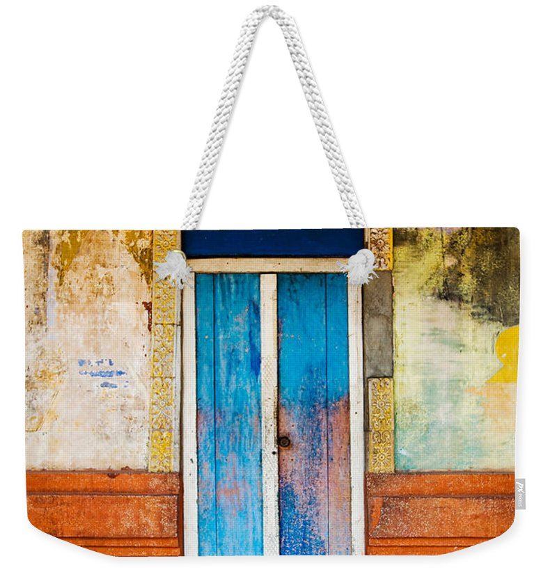 Cambodia Weekender Tote Bag featuring the photograph Colourful Door by Dave Bowman