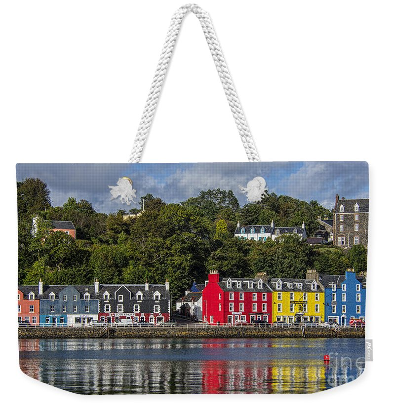 Scotland Weekender Tote Bag featuring the photograph Colourful Tobermory by Chris Thaxter