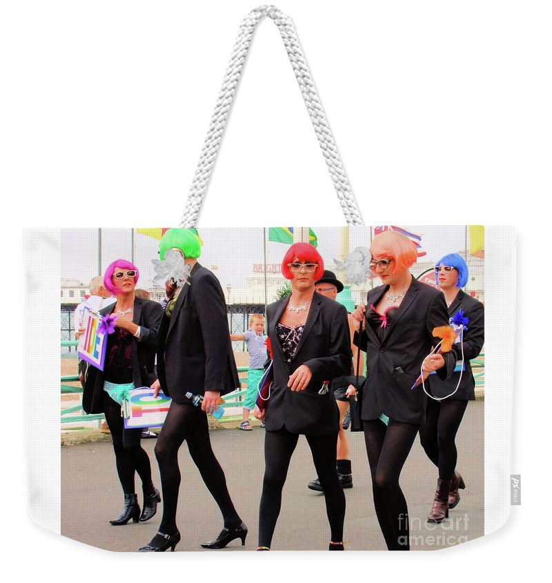 Brighton Weekender Tote Bag featuring the photograph Colours by Jamie McGrane
