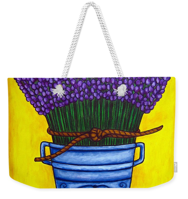 Antique Weekender Tote Bag featuring the painting Colours Of Provence by Lisa Lorenz