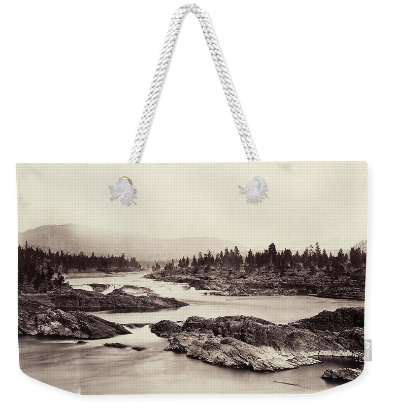 1860 Weekender Tote Bag featuring the photograph Columbia River: Kettle Falls by Granger