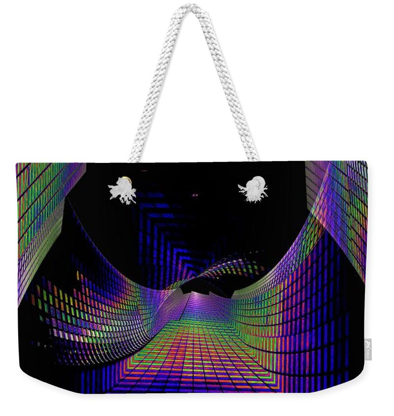 Seattle Weekender Tote Bag featuring the digital art Columbia Tower Vortex by Tim Allen