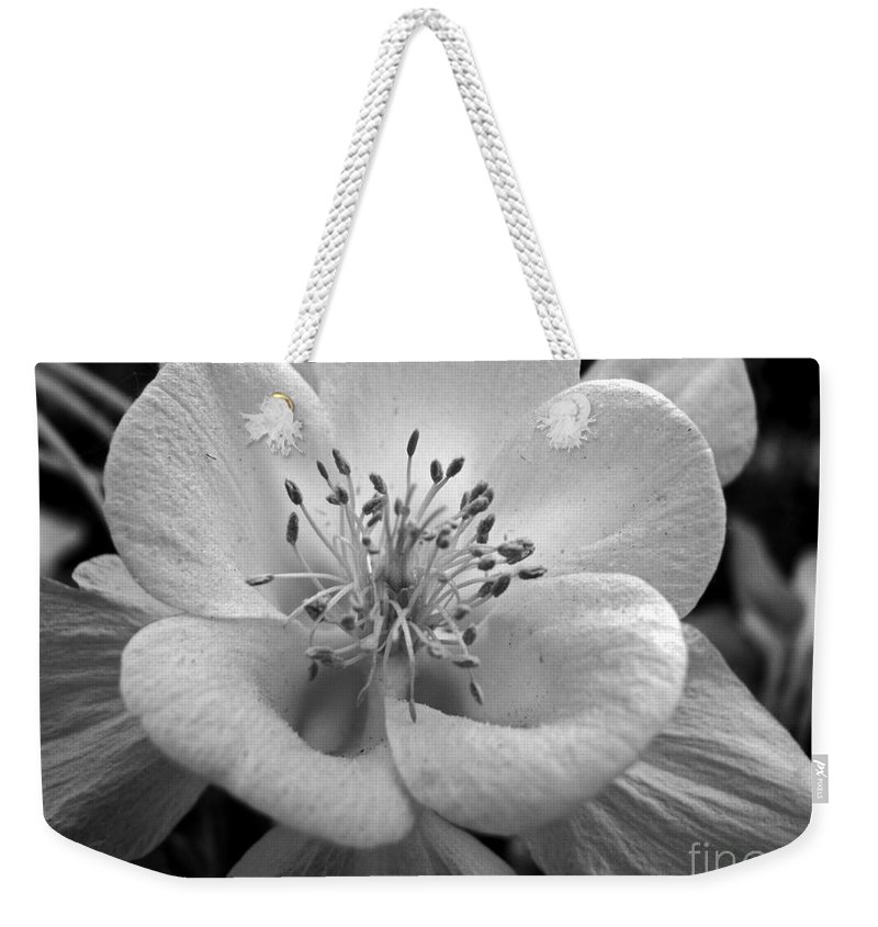 Flowers Weekender Tote Bag featuring the photograph Columbine by Amanda Barcon