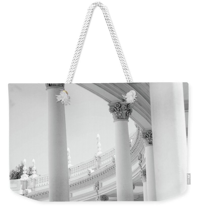 Columns Weekender Tote Bag featuring the photograph Columns by Jacki Putnam