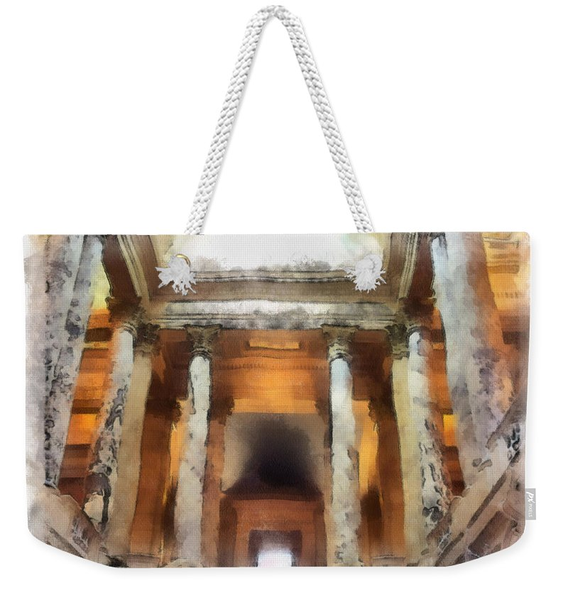 Columns Weekender Tote Bag featuring the photograph Columns by Paulette B Wright