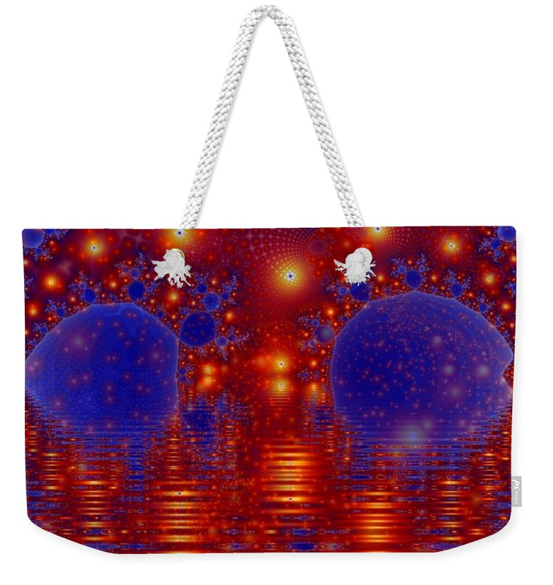 Fractal Art Weekender Tote Bag featuring the digital art Combinations In Primordal Soup by Ron Bissett