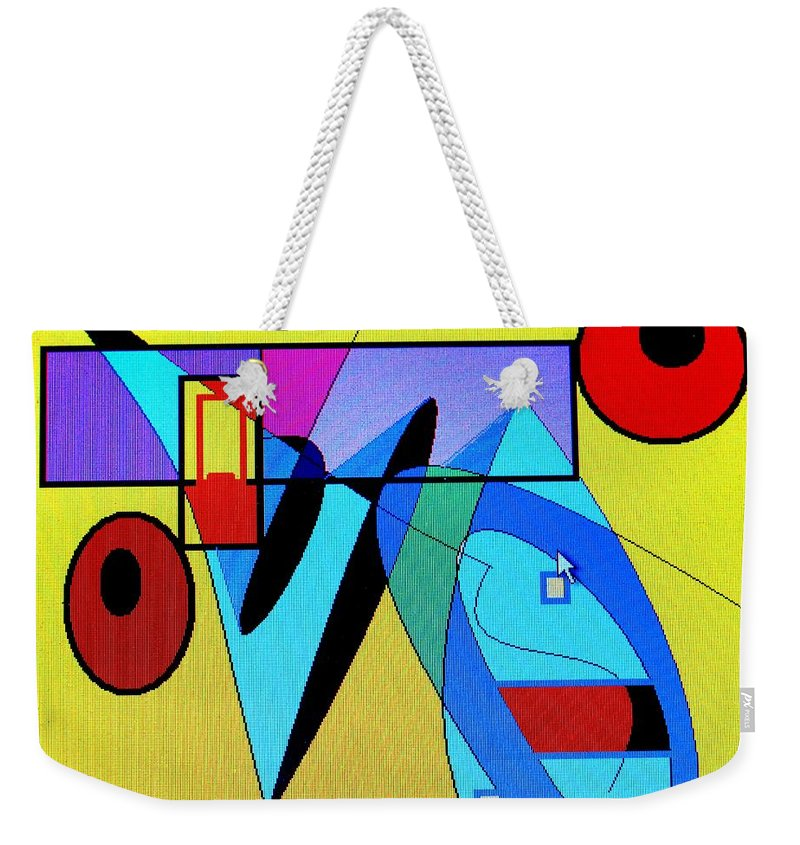 Horn Weekender Tote Bag featuring the digital art Come Blow Your Horn by Ian MacDonald