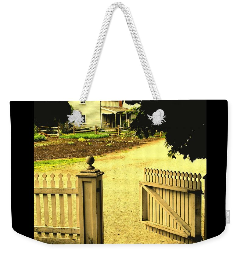Farm Weekender Tote Bag featuring the photograph Come On In by Ian MacDonald