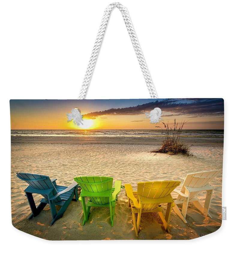 Florida Weekender Tote Bag featuring the photograph Come Relax Enjoy by Marvin Spates