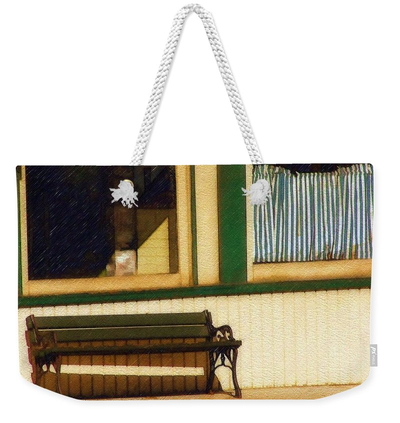 Bench Weekender Tote Bag featuring the photograph Come Sit A Spell by Sandy MacGowan