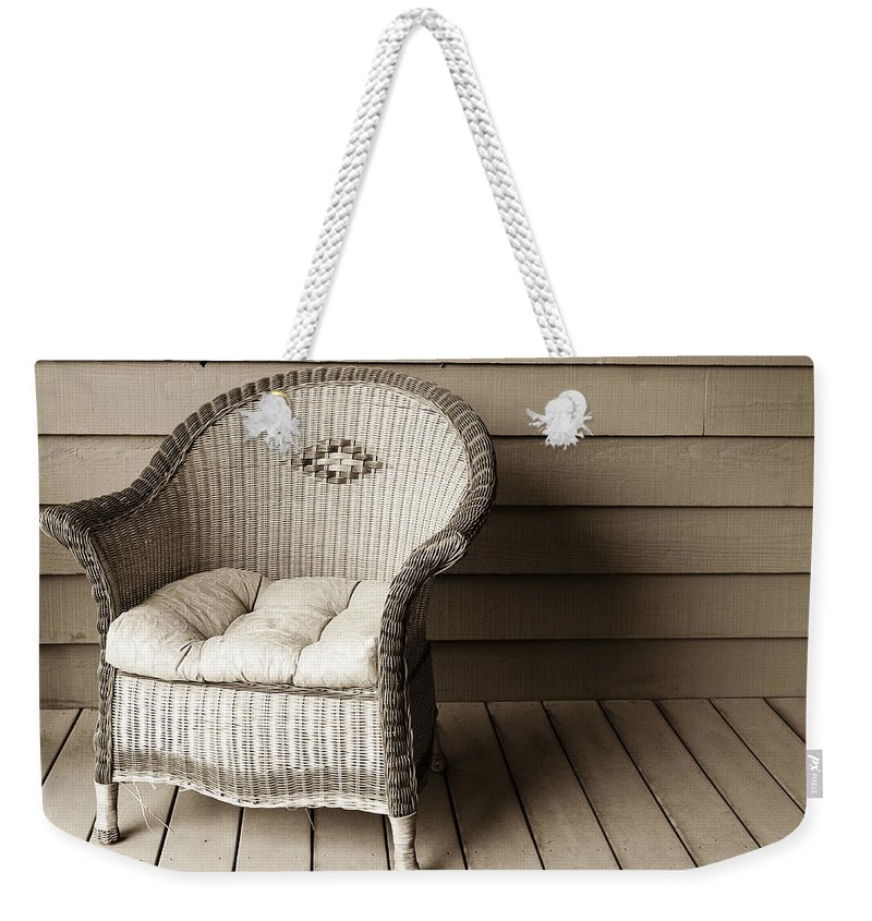 Americana Weekender Tote Bag featuring the photograph Come Sit With Me by Marilyn Hunt