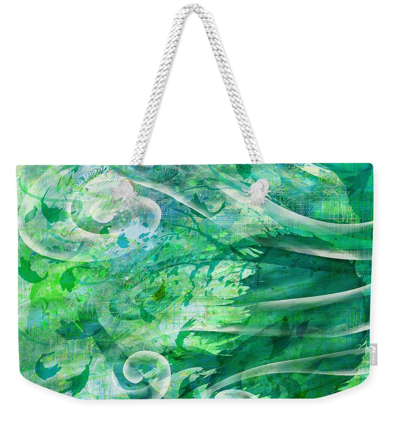 Abstract Weekender Tote Bag featuring the digital art Come To Me by Rachel Christine Nowicki