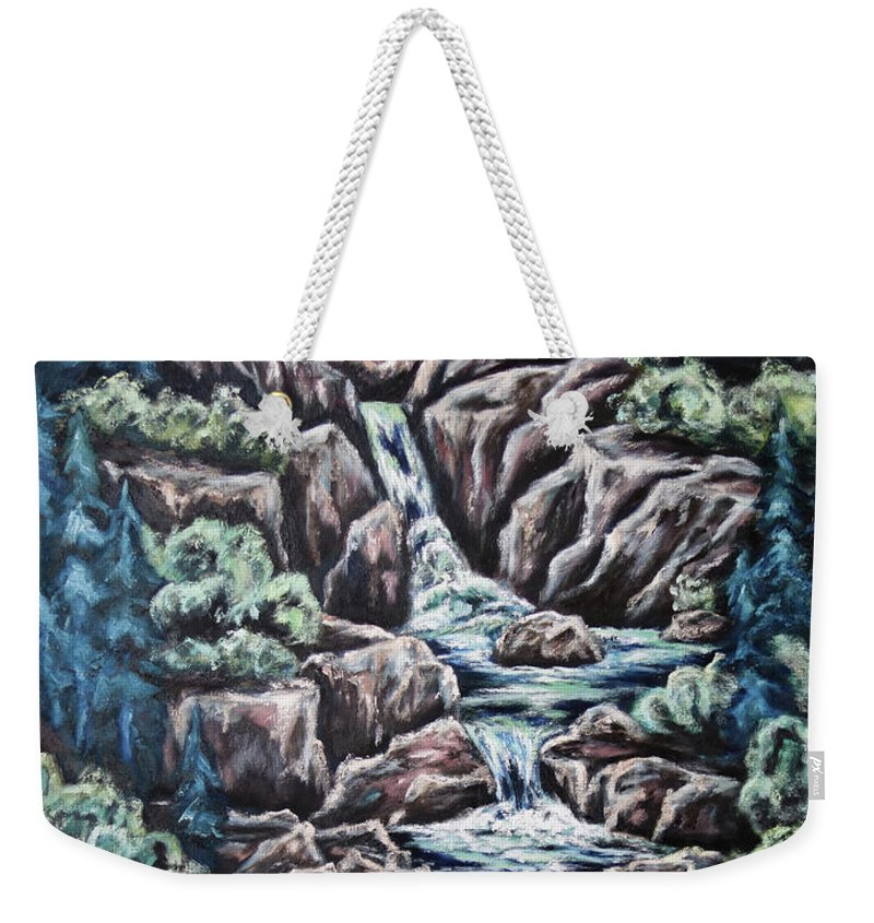 Sun Weekender Tote Bag featuring the painting Come Walk With Me 2 by Cheryl Pettigrew