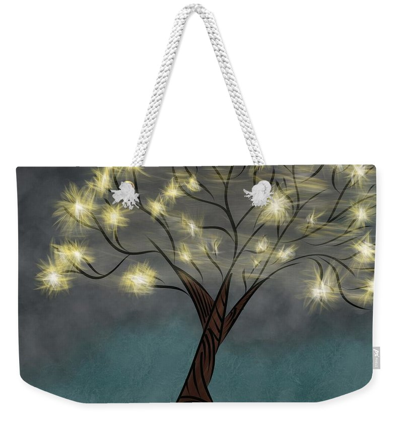 Abstract Tree Weekender Tote Bag featuring the digital art Comet Tree by Morgan Payne