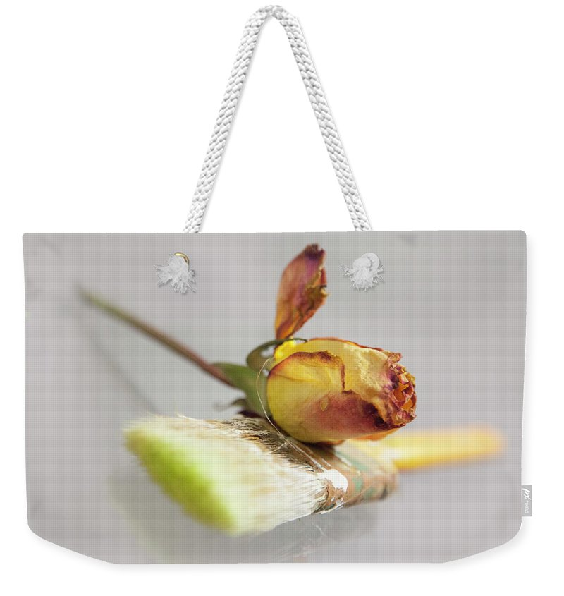 Weekender Tote Bag featuring the photograph Comfort by Holly Bell