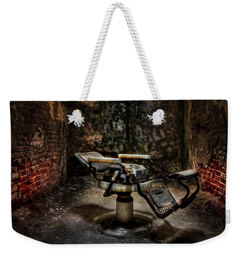 Chair Weekender Tote Bag featuring the photograph Comfortably Numb by Evelina Kremsdorf