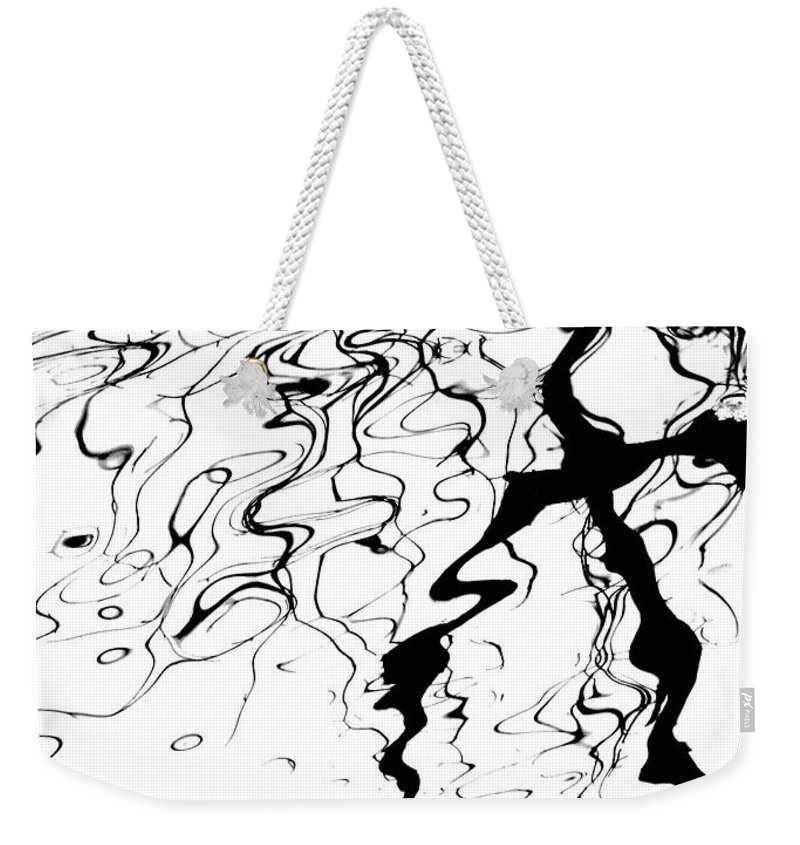 Water Weekender Tote Bag featuring the photograph Comic Relief by Donna Blackhall
