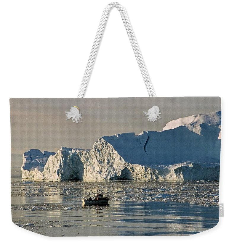 Greenland Weekender Tote Bag featuring the photograph Coming Home - Greenland by Juergen Weiss