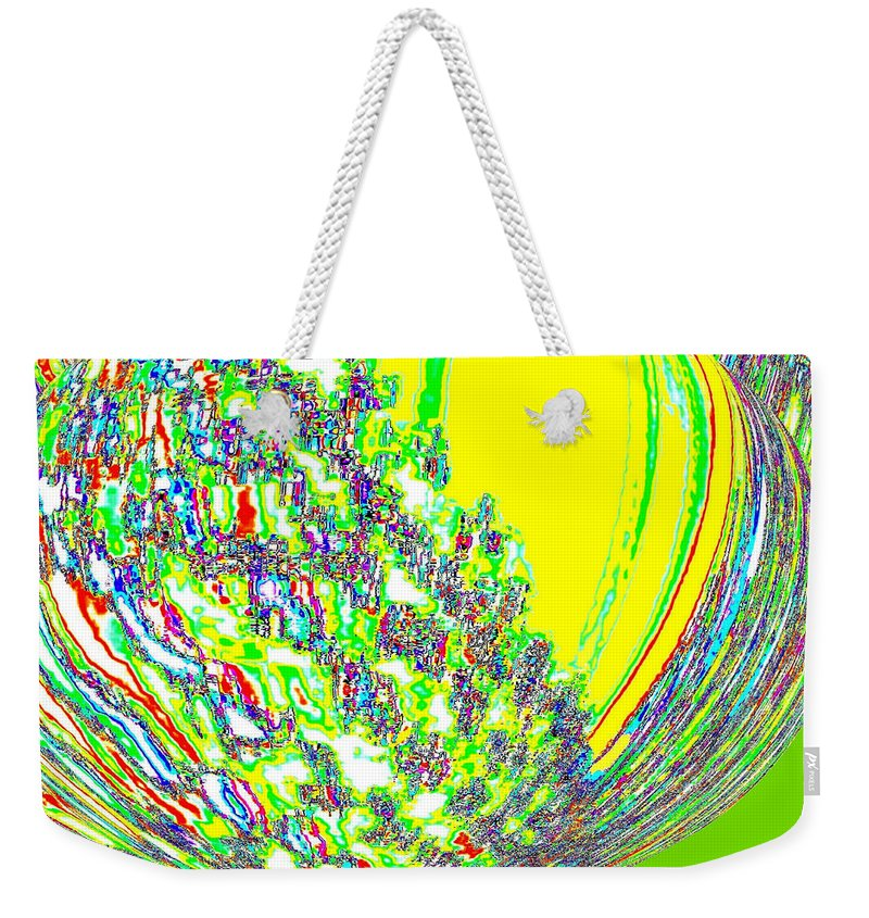 Abstract Weekender Tote Bag featuring the digital art Coming Into Bloom by Will Borden