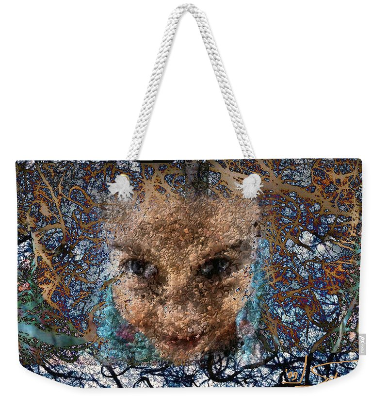 Digital Weekender Tote Bag featuring the digital art Coming Out by Ioulia Sotiriou