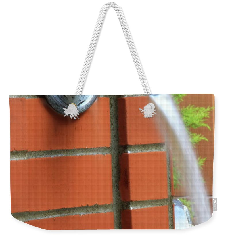 Fountain Weekender Tote Bag featuring the photograph Coming To Drink by Laddie Halupa