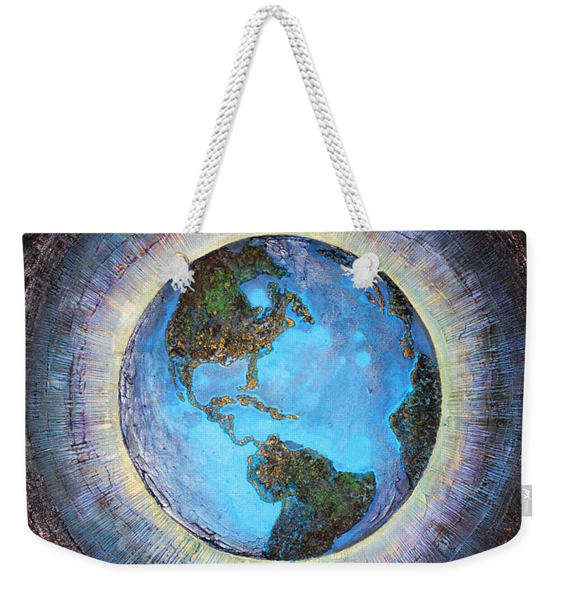 Farzali Babekhan Weekender Tote Bag featuring the painting Common Ground by Farzali Babekhan