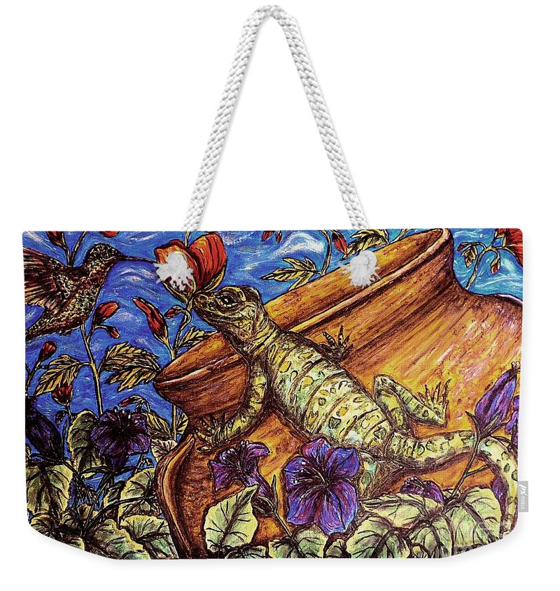 Animals Weekender Tote Bag featuring the painting Common Ground by Kim Jones