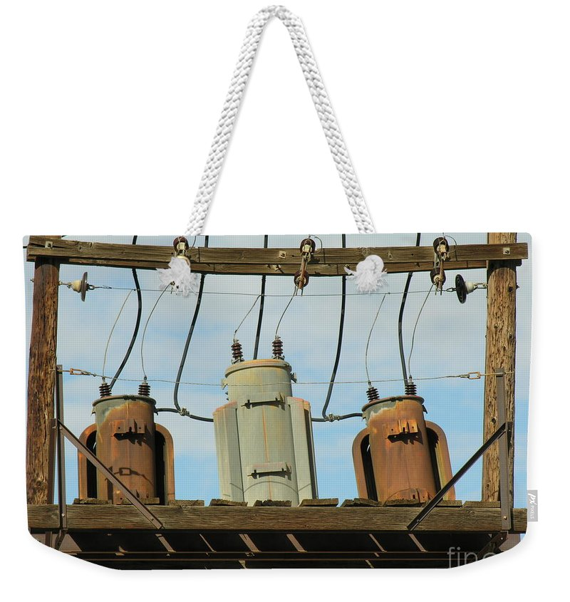 Rusted Weekender Tote Bag featuring the photograph Company by Diane Greco-Lesser