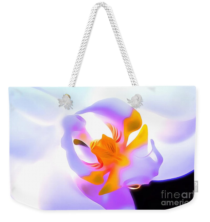 Orchid Weekender Tote Bag featuring the digital art Compassion by Krissy Katsimbras