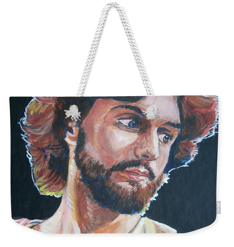 Jesus Christ Weekender Tote Bag featuring the painting Compassionate Christ by Bryan Bustard
