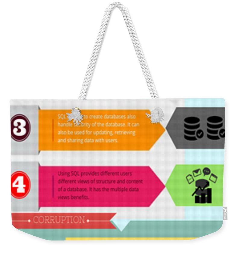 Repair Corrupt Mssql Database Weekender Tote Bag featuring the photograph Complete Information About Ms Sql by Henry Rice