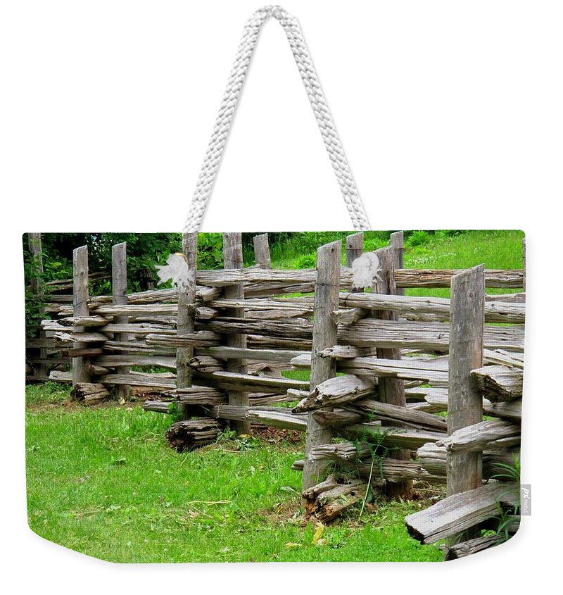 Split Weekender Tote Bag featuring the photograph Complex Pattern by Ian MacDonald