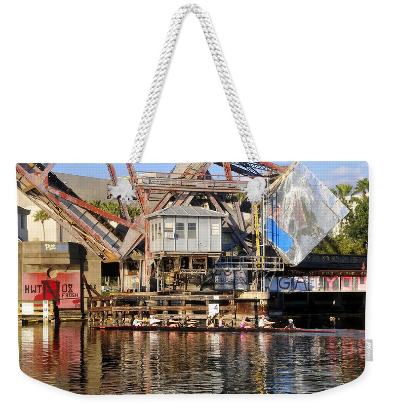 Sculling Weekender Tote Bag featuring the photograph Complicated by David Lee Thompson