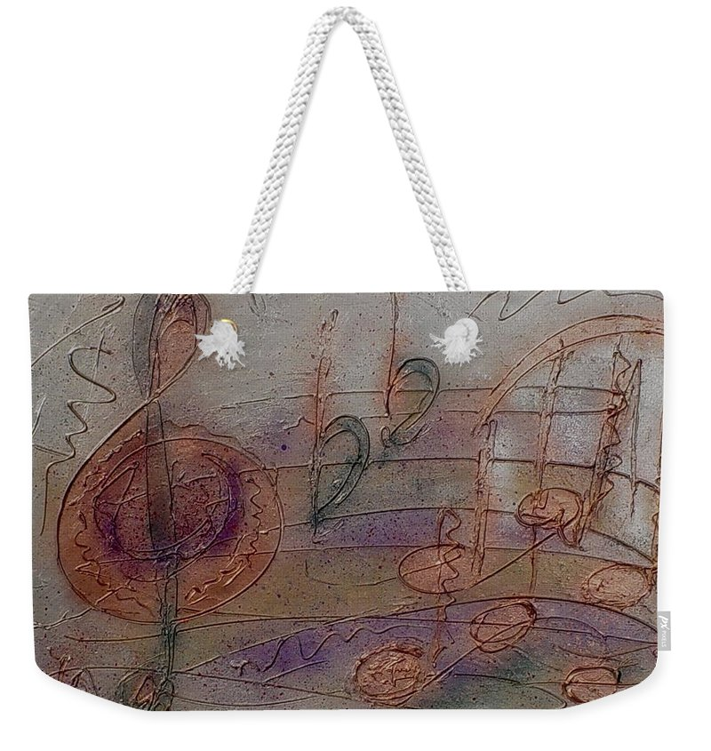 Impressionist Weekender Tote Bag featuring the painting Composition In B Flat by Anita Burgermeister