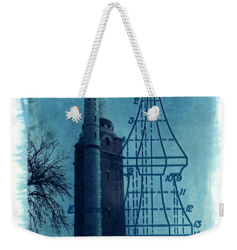 Alternative Process Photography Weekender Tote Bag featuring the photograph Compton Blueprint by Jane Linders
