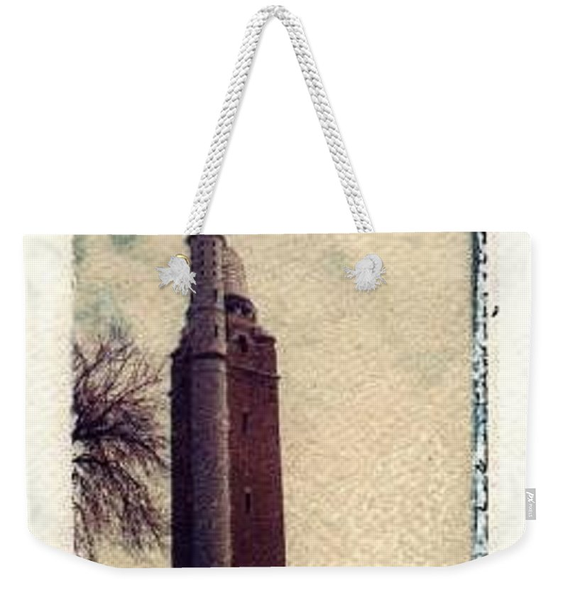 Polaroid Transfer Weekender Tote Bag featuring the photograph Compton Water Tower by Jane Linders