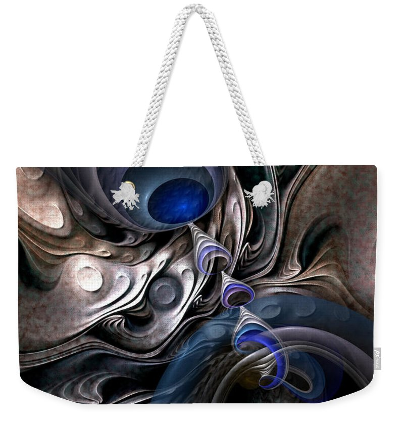 Abstract Weekender Tote Bag featuring the digital art Concatenations by Casey Kotas