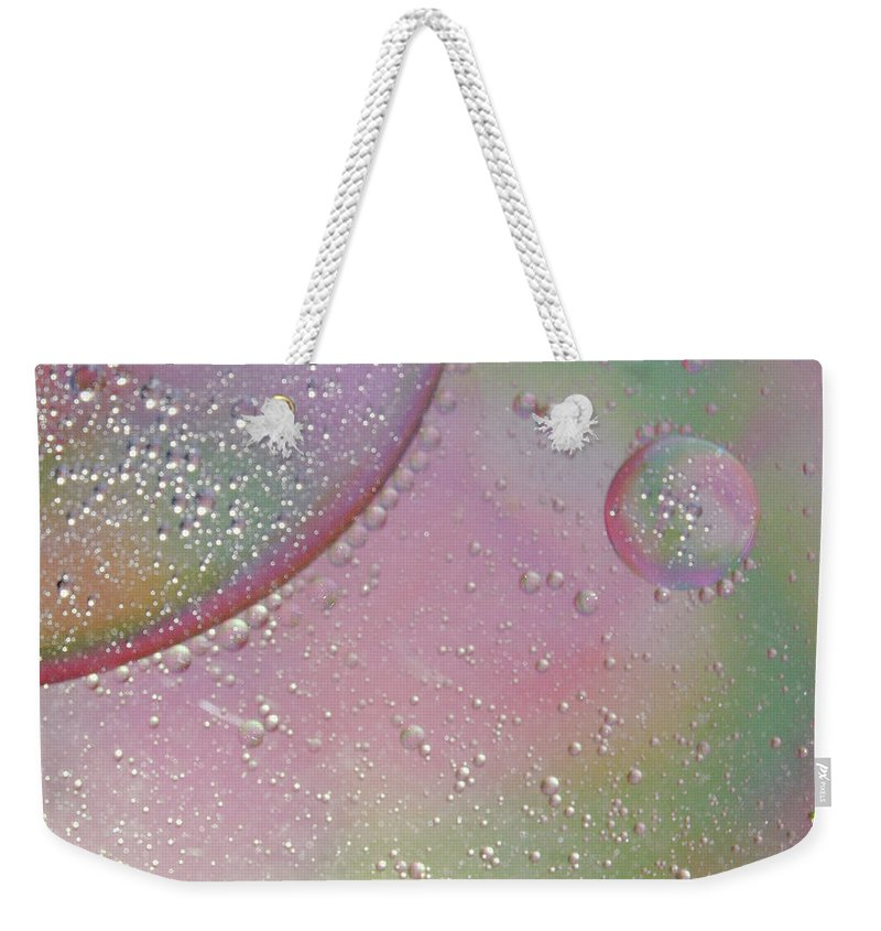 Abstract Weekender Tote Bag featuring the photograph Conception by Michael Peychich