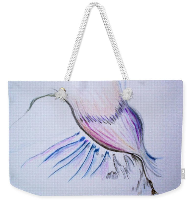Abstract Painting Weekender Tote Bag featuring the painting Conception by Suzanne Udell Levinger